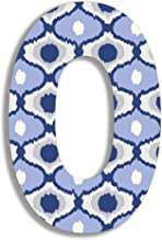 Stupell Home Décor Blue and Grey Ikat 18 Inch Hanging Wooden Initial, 12 x 0.5 x 18, Proudly Made in USA