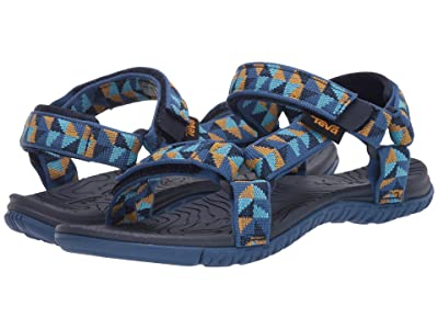 Teva Kids Hurricane 3 (Little Kid/Big Kid) (Ciment Squares Blue Mist) Kids Shoes
