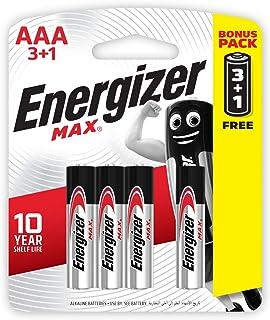 بطاريات قلوية AAA ماكس من انرجايزر، 4 قطع - 1.5 فولت