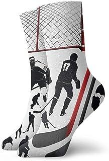 Calcetines de compresión de equipo de hockey clásico Tejido plano Casual Calentamiento atlético 30 cm Ligero