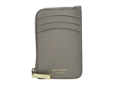 Kate Spade New York Margaux Zip Card Holder (True Taupe) Coin Purse