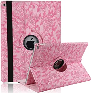 9.7 Inch 2018 iPad 6th Generation Case, SorbSun 360 Degree Rotating PU Leather Flip Folio Stand Cases Cover for 9.7 Inch 2017&2018 Release Apple iPad/iPad 5th&6th Generation,Pink