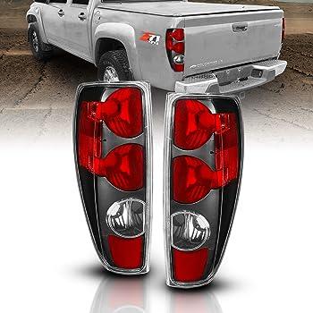 For Black Smoke 2004-2012 Chevy Colorado GMC Canyon Tail Lights Brake Lamps 04-12 Driver /& Passenger Side ACANII