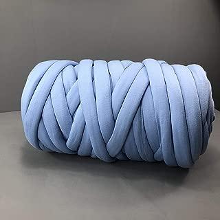 Zituop Super Soft Washable Chunky Blanket Yarn Bulky Yarn Giant Knit Blanket Yarn Merino Wool Alternative Yarn for Arm Knitting Hand Knitting, 1Lb-20M (Blue)