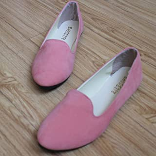 JIESENGTOO Plus Size Shoes Women Flats Candy Color Loafers Spring Autumn Flat Summer Shoes Size 35-43