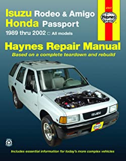 Isuzu Rodeo, Amigo, & Honda Passport covering Isuzu Rodeo (91-02), Isuzu Amigo (89-94), Isuzu Amigo (98-02), Honda Passport (95-02) Haynes Repair Manual (Haynes Repair Manuals)