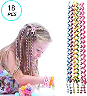 18 Pcs Hair Styling Twister Clip for Girl Women,ZXK CO Braided Rubber Hair Band Twist Barrette Spiral Spin Hair Tool Accessories Elastic Hair Rope Cute Hairband