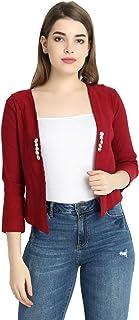 KING-DENIM Shree k.m.t Enterprises Cotton Lycra six Button Multi-Color Shrug for Women & Girls