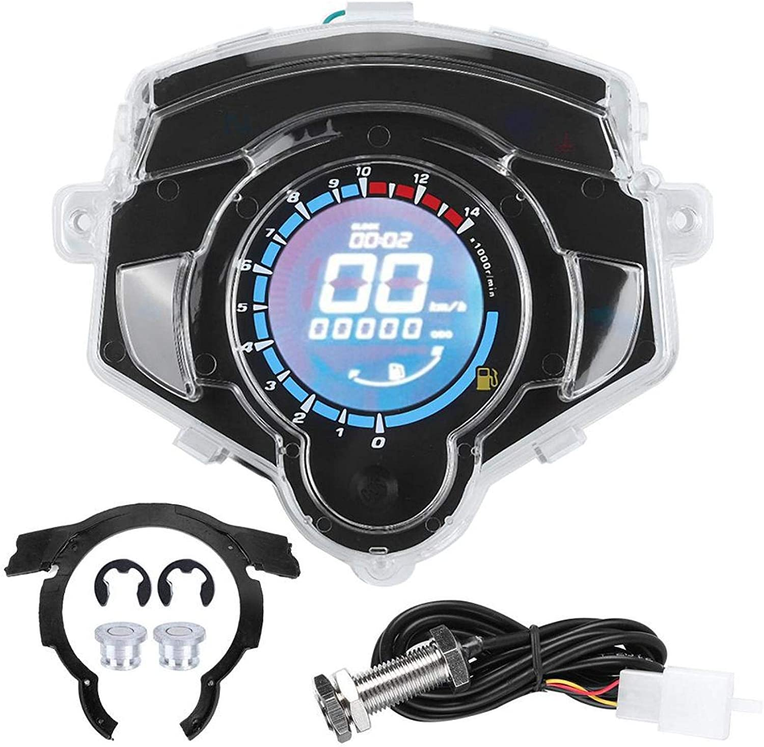 100% quality warranty! Bediffer low-pricing LCD Odometer Speedometer for Reliable Motorcycle DC12V