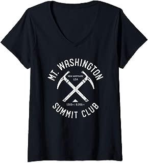 Womens Mt Washington Summit Club | I climbed Mount Washington V-Neck T-Shirt