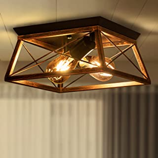 Metal Ceiling Light Industrial Cage Light Fixture for...
