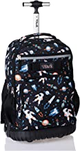 Tilami Rolling Backpack 18 inch Wheeled Laptop Backpack Waterproof School College Student Travel Trip Boys and Girls