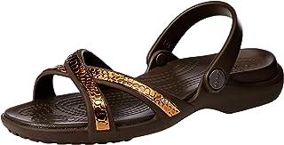 Crocs Women's Meleen Metallic Cross Band Slide Sandal