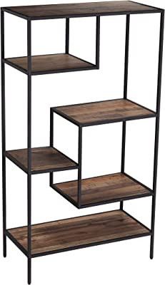 SEI Furniture Mathry Etagere, Natural, Gray