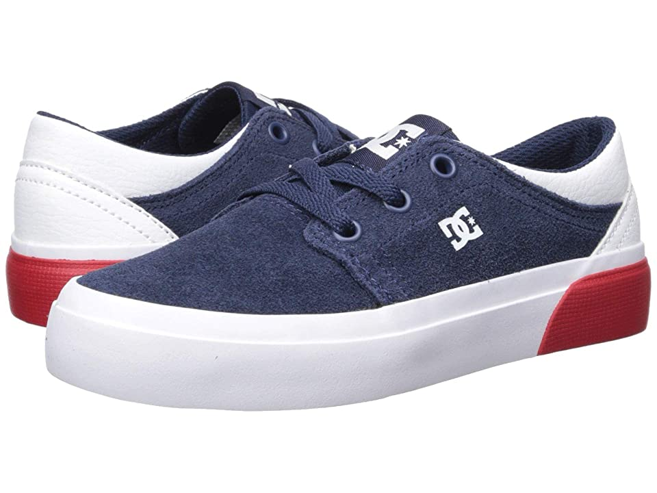 DC Kids Trase (Little Kid/Big Kid) (DC Navy/White) Boys Shoes