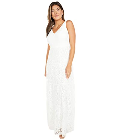 LAUREN Ralph Lauren Tyona Sleeveless Day Dress (Lauren White) Women