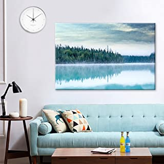 wall26 Canvas Wall Art - Watercolor Painting Style Forest with Reflection on Calm Lake - Giclee Print Gallery Wrap Modern Home Decor Ready to Hang - 16x24 inches