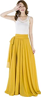 Sinreefsy Summer Chiffon High Waist Pleated Big Hem...