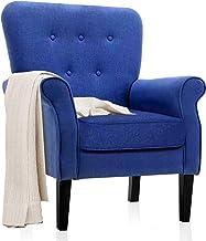 كراسي أكسنت ، كرسي بذراع منتصف القرن مع زر بتصميم منعقد، كرسي أريكة فردي عصري للشقق الصغيرة، غرفة المعيشة أو غرفة النوم، أ...