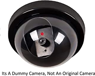 HUMBLE Realistic Looking Dummy Security CCTV Camera with Flashing Red LED Light for Office and Home : Black ( Pack of 1 )