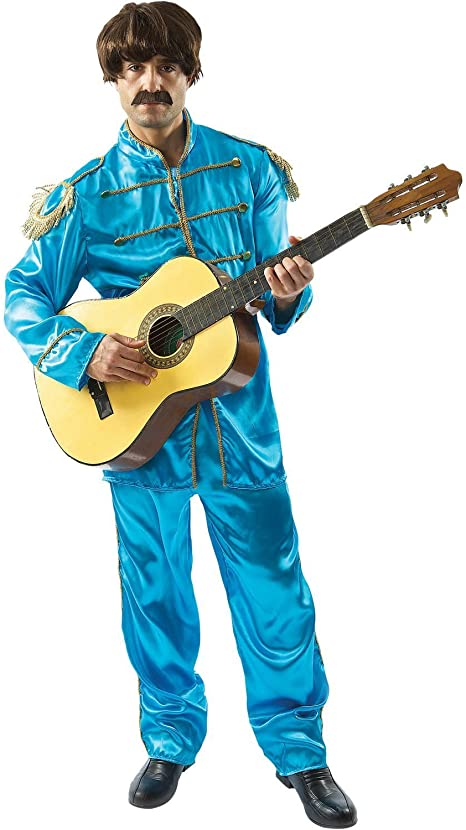 60s -70s  Men's Costumes : Hippie, Disco, Beatles Lonely Hearts Band Costume - Blue  AT vintagedancer.com