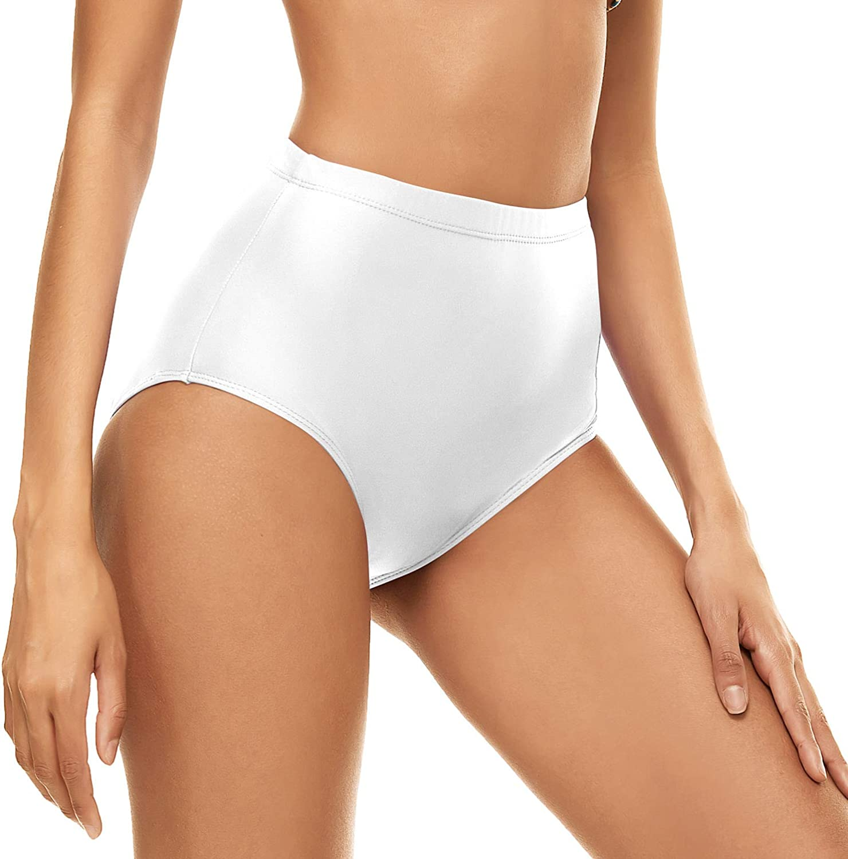 Bellecarrie Women's High Waisted Bikini Swim Bottoms Full Coverage Tankini Swimsuit Bottoms Dance Briefs