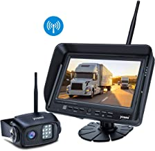 Wireless Backup Camera System Kit, IP69K Waterproof Wireless Rear View Camera + 7'' LCD Wireless Reversing Monitor for Trailer, RV, Bus, Trucks, Horse-Trailer, School Bus, Farm Machine,etc