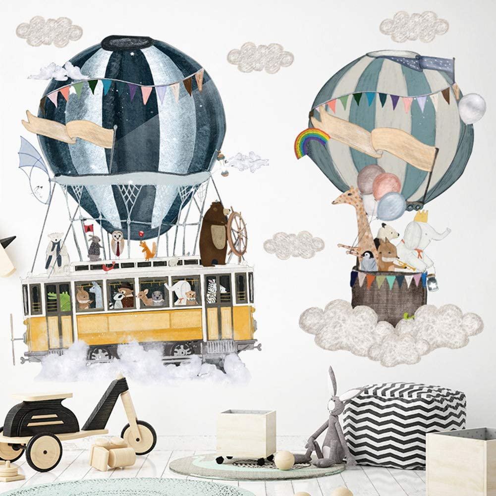 N//P Space Travel Wall Stickers Spaceman Wall Sticker Peel and Stick Wall Decor for Kids Boys Girls Bedroom Living Room Bathroom Mirror Classroom BBLX