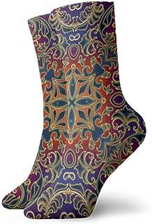 Hunter qiang, Calcetines para mujeres y hombres, bonitos patrones geométricos para azulejos, alfombras y papel pintado, calcetines deportivos de 30 cm