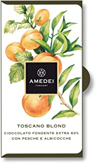 Amedei Toscano Blond, Dark Chocolate Bar with Peaches and Apricots