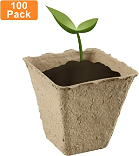 """Homend 100Pack 3"""" Seed Starter Peat Pots Kit, Seed Germination Kit, Organic Biodegradable Pots 100% Eco-Friendly Enhance Aeration"""