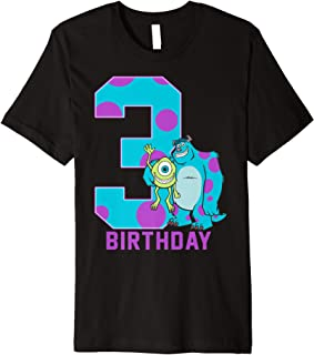 Disney Pixar Monsters Inc. Mike and Sully 3rd Birthday Premium T-Shirt