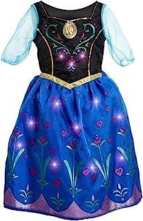 Disney Frozen Anna Musical Light-Up Dress Size 7/8, Black