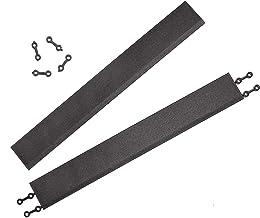 andiamo Randlijst voor kunststof tegels vloertegels tuintegel lengte: 38 cm, set: 2 randlijsten, zwart