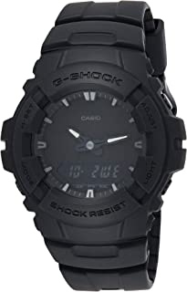 Casio G-Shock Analog Digital Dual Time Men Watch G-100BB-1A G-100BB-1ADR (All Black)