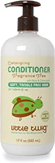 Little Twig All Natural Baby Detangling Conditioner Fragrance Free, Unscented, 17 Ounce