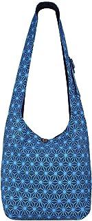 Vishes Unisex Umhängetasche Schultertasche - Tasche zum Umhängen für die Schulter Asanoha Druck