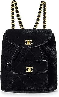 CHANEL Black Velvet Classic Backpack (Pre-Owned)