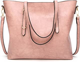 Leather New Women's Crossbody Wallet Oil Skin Tote Wallet Fashion Single Shoulder Diagonal Handbag Simple Wild Lady Wallet Waterproof (Color : Pink, Size : M)