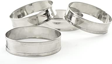 Norpro 3776 Stainless Steel English Muffin Rings, Set of 4, sylver