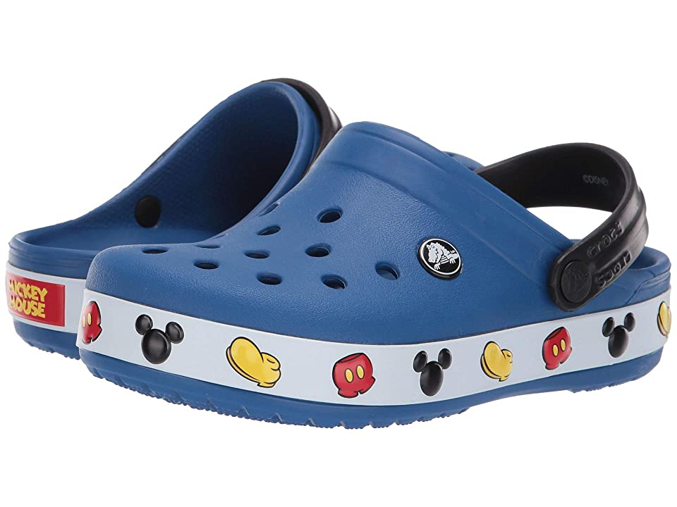 Crocs Kids Crocband Mickey Clog (Toddler/Little Kid) (Blue Jean) Kids Shoes