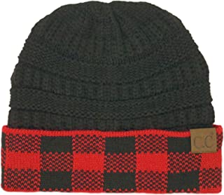 CC Winter Fall Trendy Chunky Stretchy Cable Knit Beanie Hat