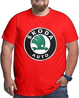 ZaHome Men Skoda Auto Casual Plus Size T-Shirt Short-Sleeve Freestyle Tee Top