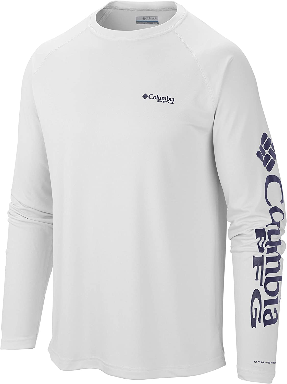 Columbia Men's Terminal Tackle Long Sleeve Polo, XX-Large, White Nightshade Logo
