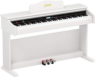 LAGRIMA White Digital Piano with Standard Key, 88 Key Electr