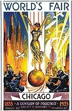 1933 Chicago World's Fair, Century of Progress, Expo, Chicago Illinois, Souvenir Magnet 2 x 3 Photo Fridge Magnet