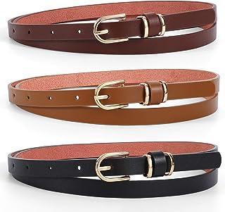 Womens No Show Stretch Belt Men Adjustable Elastic Flat Buckle Invisible Belt