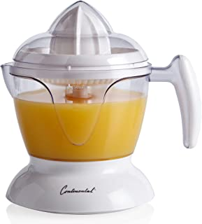 Continental Electric CE22661 Juicy Electric Citrus Juicer, 24 Ounce, white