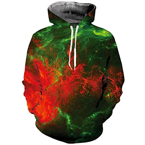 485d10aaf82b98 TUONROAD Unisex 3D Printed Hoodies Novelty Pullover Colourful Patterned  Sweatshirt Fleece Plush Lining with Pockets Drawstring