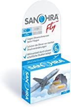SANOHRA fly für Erwachsene, Ohrstöpsel mit patentiertem Filter gegen Ohrenschmerzen beim Fliegen